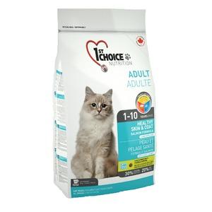 Фотография товара Корм для кошек 1st Choice Healthy skin & coat, 2.72 кг, лосось