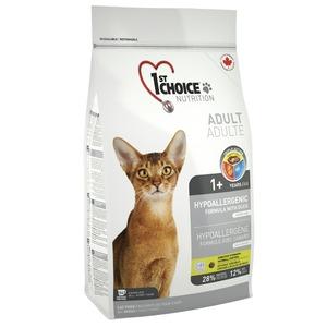 Фотография товара Корм для кошек 1st Choice Hypoallergenic, 2.72 кг, утка с картофелем