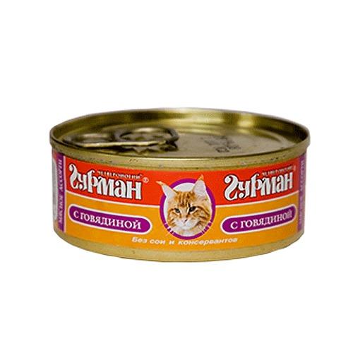 Корм Четвероногий Гурман Голден Говядина с кошачьей мятой натуральная в желе 100g для кошек 36586