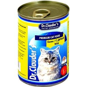 Фотография товара Корм для кошек Dr. Clauder's, 415 г, дичь