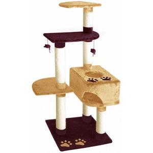 Фотография товара Домик-когтеточка для кошек Fauna International LETICIA, размер 50х50х138см.