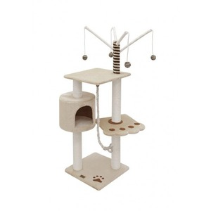 Фотография товара Домик-когтеточка для кошек Fauna International VITOR, размер 40х40х125см.