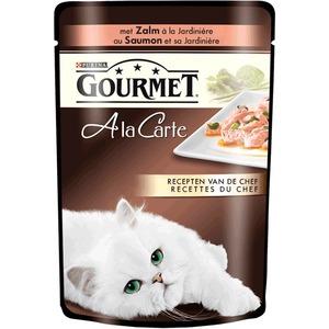 Фотография товара Влажный корм для кошек Gourmet A la Carte, 85 г, Лосось со Шпинатом, Цукини и Зеленой фасолью