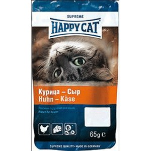 Фотография товара Лакомство для кошек Happy Cat, 50 г, курица и сыр