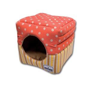 Фотография товара Домик для кошек Katsu Muleo, размер 30х30х16см., оранжевый