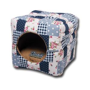 Фотография товара Домик-трансформер для собак Katsu M, размер 35х35х18см., голубой