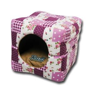 Фотография товара Домик-трансформер для собак Katsu M, размер 35х35х18см., лиловый