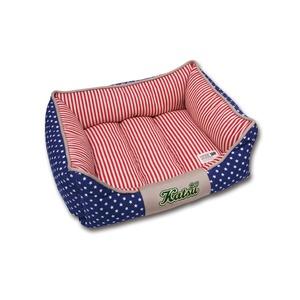 Фотография товара Лежак для собак с бортиками Katsu, размер 55х45х23см., синий