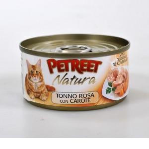 Фотография товара Корм для кошек Petreet, 85 г, тунец с моркоью
