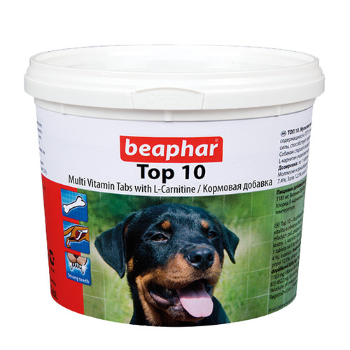 Витамины для собак Beaphar Top 10, 750 таб.