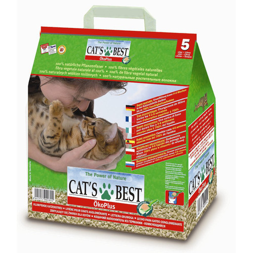Наполнитель для кошачьего туалета Cat's Best Eco Plus, 2.1 кг