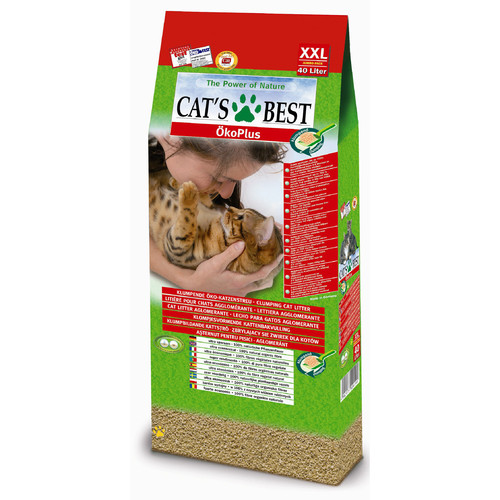 Наполнитель для кошачьего туалета Cat's Best Eco Plus, 17.2 кг