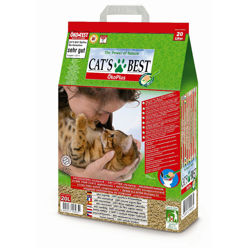 Наполнитель для кошачьего туалета Cat's Best Eco Plus, 8.6 кг