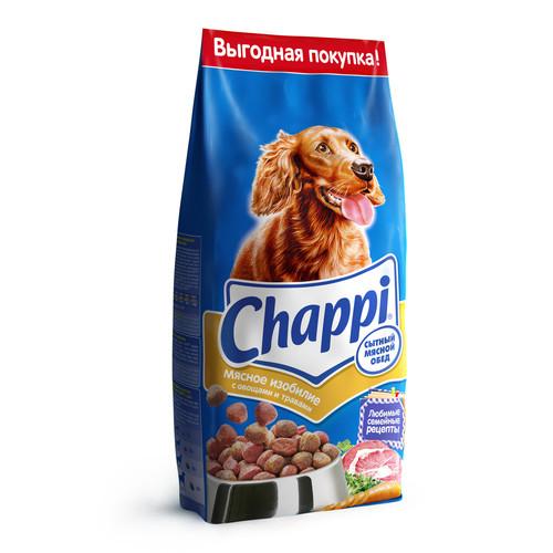 Корм для собак Chappi Сытный мясной обед, 15 кг, мясное ассорти