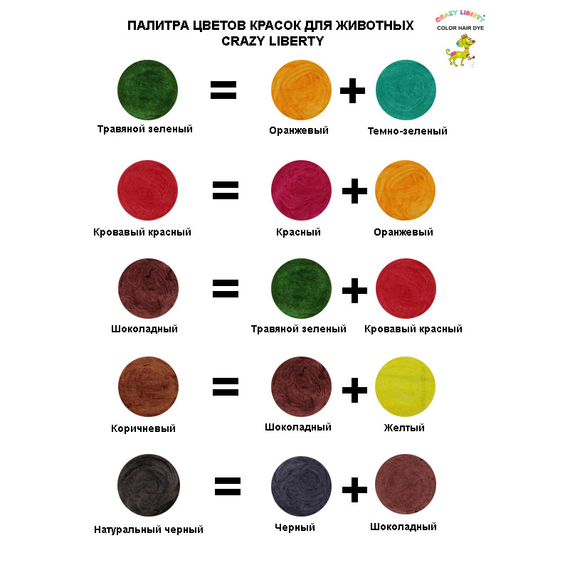 Таблица смешивания цветов 24