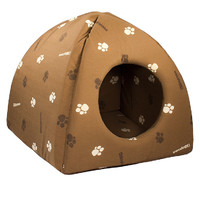 Фотография товара Домик для кошек и собак Дарэлл Юрта, размер  36х36х35см., коричневый