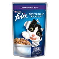 Фотография товара Корм для кошек Felix Аппетитные кусочки, 85 г, Ягненок