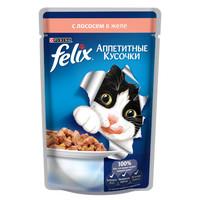 Фотография товара Корм для кошек Felix Аппетитные кусочки, 85 г, лосось