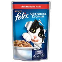 Фотография товара Влажный корм для кошек Felix Аппетитные кусочки, 85 г, говядина