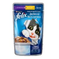 Фотография товара Корм для кошек Felix Двойная Вкуснятина, 85 г, ягненок с курицей
