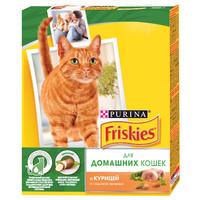 Фотография товара Корм для кошек Friskies Indoor, 300 г, курица и зелень