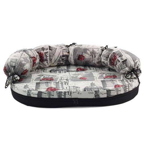Лежак-диван для собак Гамма Размер 2, размер 2, размер 100х66х8см., цвета в ассортименте