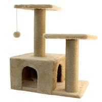 Фотография товара Дом-когтеточка для кошек Гамма, размер 57х35х77см., цвета в ассортименте