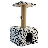 Фотография товара Домик когтеточка для кошек Гамма, размер 35х35х77см.