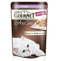 Фотография товара Корм для кошек Gourmet A la Carte , 85 г, Птица с Баклажаном, Цукини и Томатами