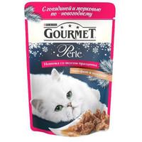 Фотография товара Корм для кошек Gourmet Perle, 85 г, говядина с морковью