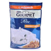 Фотография товара Корм для кошек Gourmet Perle, 85 г, индейка