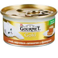 Фотография товара Корм для кошек Gourmet Gold Кусочки в паштете, 85 г, утка с морковью и шпинатом