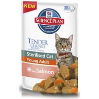 Фотография товара Корм для кошек Hill's SP Young Adult Sterilised, 85 г, лосось
