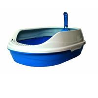 Фотография товара Овальный туалет для кошек Homecat, размер 43х31х16см., голубой