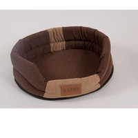 Фотография товара Лежак для собак Katsu Animal XL, размер 88х72х19см., коричневый/бежевый