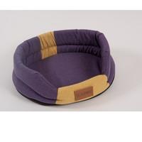 Фотография товара Лежак для собак Katsu Animal M, размер 72х60см., фиолетовый/желтый
