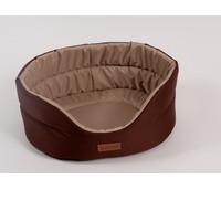Фотография товара Лежак для собак Katsu Classic Shine  XXL, размер 70х62х25см., коричневый/бежевый