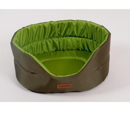 Лежак для собак Katsu Classic Shine  S, размер 46х42х18см., хаки/зеленый