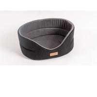 Фотография товара Лежанка для собак Katsu Suedine  L, размер 58х52х21см., черно-серый