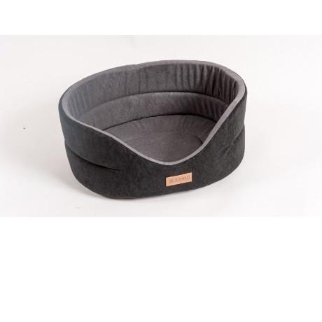 Лежанка для собак Katsu Suedine  L, размер 58х52х21см., черно-серый