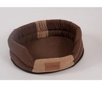 Фотография товара Лежак для собак Katsu Animal L, размер 79х65см., коричневый/бежевый