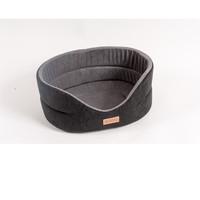 Фотография товара Лежанка для собак Katsu Suedine  S, размер 46х42х18см., черный/серый