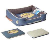 Лежак для собак Katsu De Luxe, синий, размер 100x85x15см.
