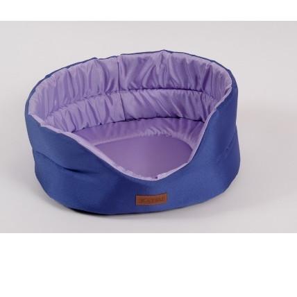Лежак для собак Katsu Classic Shine  S, размер 46х42х18см., фиолетовый/лаванда