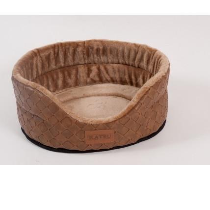 Лежак для собак Katsu Skaj L, размер 58х52х21см., коричневый