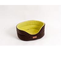 Фотография товара Лежанка для собак Katsu L, размер 58х52х21см., коричневый/желтый