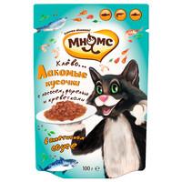 Фотография товара Корм для кошек Мнямс, 100 г, лосось, форель и креветки