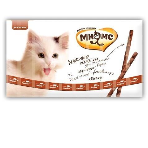 Лакомство для кошек Мнямс Лакомые палочки, 70 г, размер 13.5см., 10 шт.