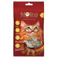 Фотография товара Лакомство для кошек Molina MIX, 80 г, дичь, маскарпоне, травка