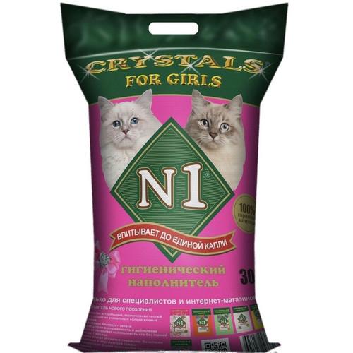 Наполнитель для кошачьего туалета N1 For Girls, 12 кг